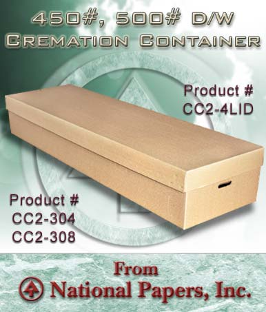 Double Wall Cremation Container with Lid