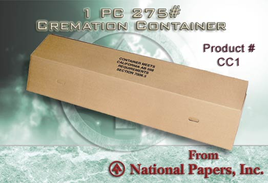 1-Piece 275 lbs Cremation Container